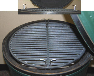 side view pswoo-ci with 18 cast iron grid in large big green egg