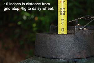 Adjustable Rig grid distance to Big Green Egg daisy wheel