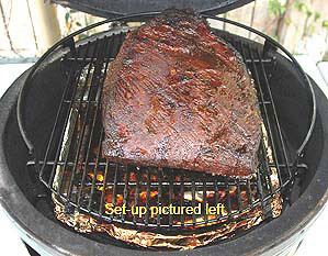 brisket low & slow with r&b combo on the rig