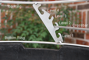 xl rig bracket design and spacing of notches