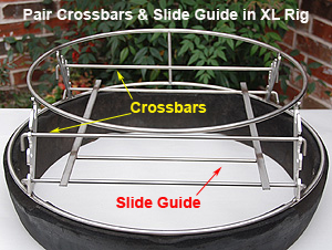 XL Slide Guide and Crossbars for XL Big Green Egg