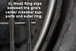 showing how the xl woo's upper ring slips inside the xl grid's outer ring